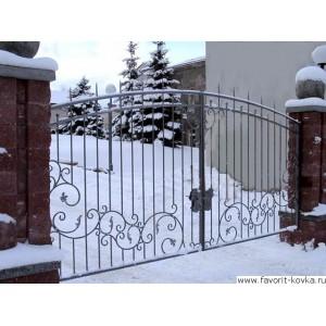 Кованые ворота189