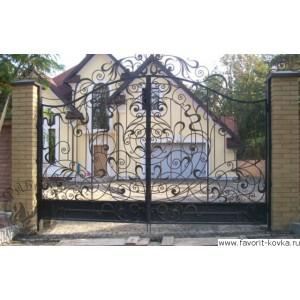 Кованые ворота190