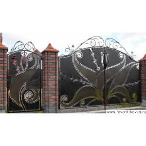 Кованые ворота191