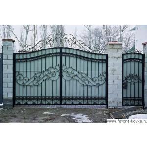 Кованые ворота195