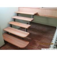 Лестница на металлокаркасе 2