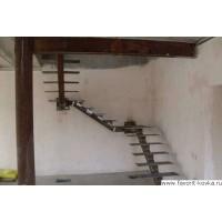 Лестница на металлокаркасе 3