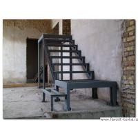Лестница на металлокаркасе 5
