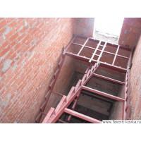 Лестница на металлокаркасе7