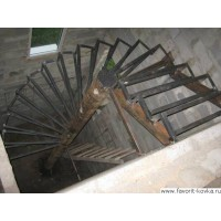 Лестница на металлокаркасе11