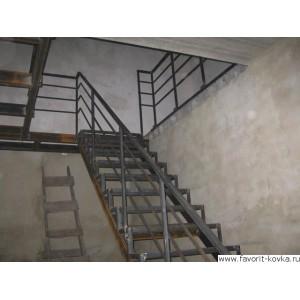Лестница на металлокаркасе15