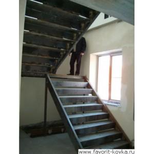 Лестница на металлокаркасе16