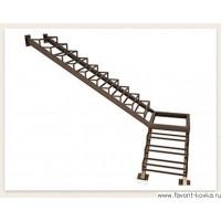 Лестница на металлокаркасе18