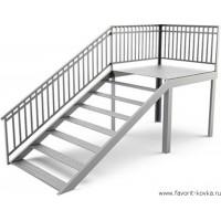 Лестница на металлокаркасе19