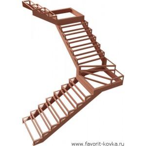 Лестница на металлокаркасе22