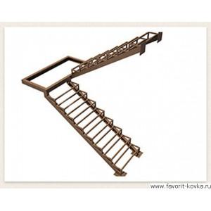 Лестница на металлокаркасе24