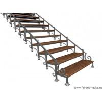 Лестница на металлокаркасе25