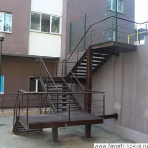 Лестница пожарная21