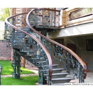 Лестница винтовая13