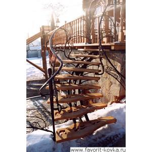 Лестничные ограждения кованые10