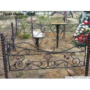 Ограда ритуальная2