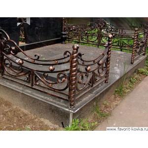 Ограда ритуальная6