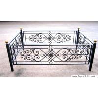 Ограда ритуальная8