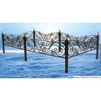 Ограда ритуальная10