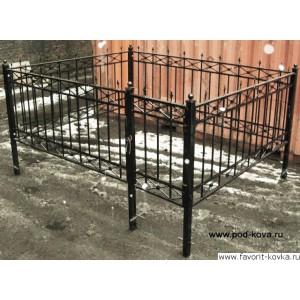 Ограда ритуальная17