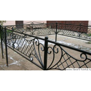 Ограда ритуальная19
