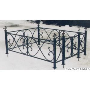 Ограда ритуальная22