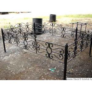 Ограда ритуальная25