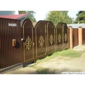 Сварные ворота1