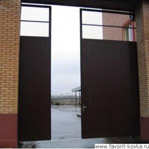Сварные ворота3