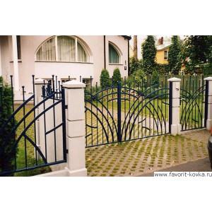 Сварные ворота4
