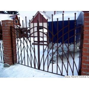 Сварные ворота6