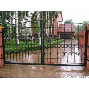 Сварные ворота7