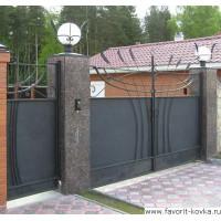Сварные ворота12