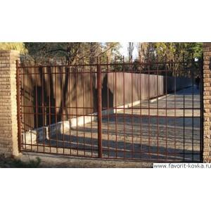 Сварные ворота16