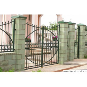 Сварные ворота19
