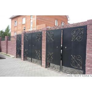 Сварные ворота22