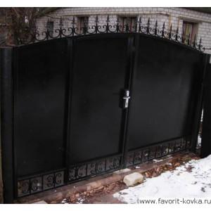Сварные ворота31