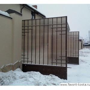 Сварные ворота33
