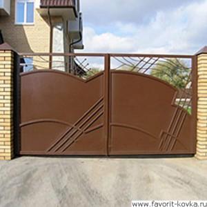 Сварные ворота36