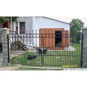 Сварные ворота39