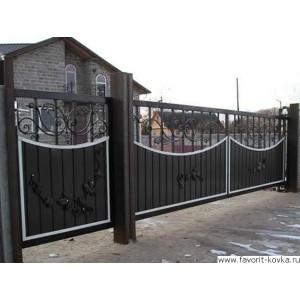 Сварные ворота44