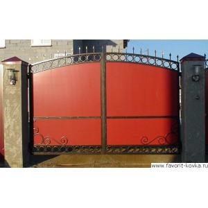 Сварные ворота48