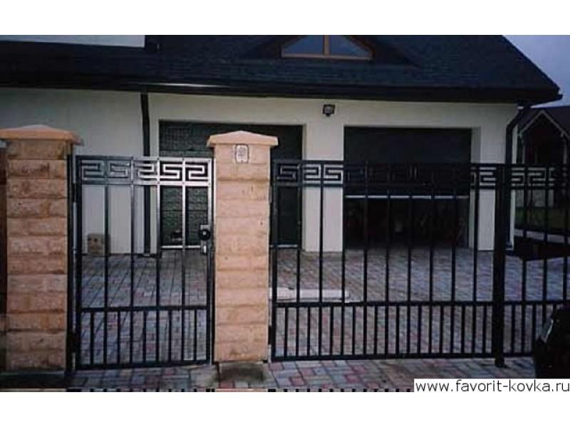 Фото калиток и ворот сварных замрк на ворота